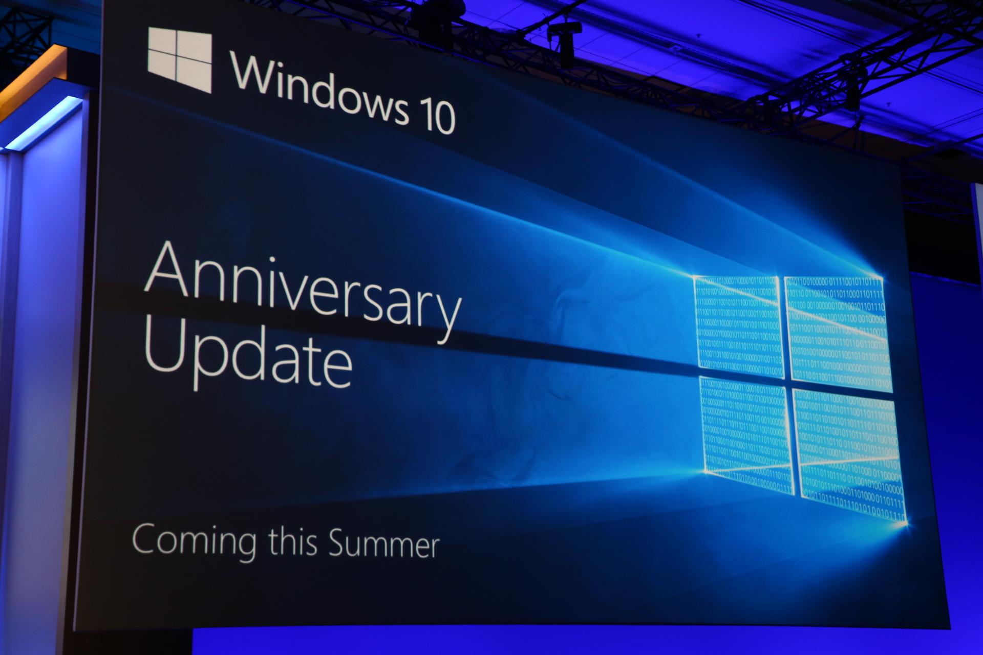 Windows 10 Mobile výroční aktualizace