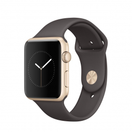 Apple Watch Series 1 42mm MNNN2CN/A zlaté + kakaově hnědý řemínek